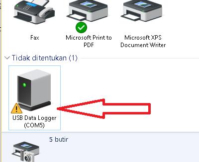 Tampilan USB Data Logger